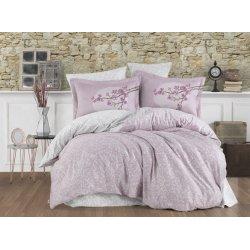 Постельное бельё евро Hobby Exclusive Sateen Natalina розовый