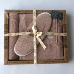 Женский комплект для бани - юбка, капюшон, тапочки Purry сиреневый