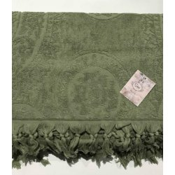 Махровая простынь - Пике Sikel жаккард Hitit yesil 200*220 зеленая
