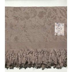 Махровая простынь - Пике Sikel жаккард Lilym (Penye) Sacakli lila 200*220 лиловая