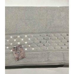 Махровая простынь - Пике Sikel жаккард Silver mint 200*220 ментоловая