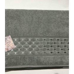 Махровая простынь - Пике Sikel жаккард Silver yesil 200*220 зеленая