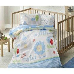 Детское постельное белье TAC Happy Zoo Blue ранфорс