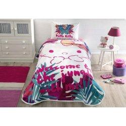 Детское постельное бельё с пике TAC Hello Kitty Jungle