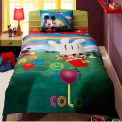 Детское постельное белье TAC Disney Mickey Mouse Club House Colors