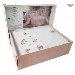 Летнее постельное белье DoCo-Dantelli-Pike-beyaz