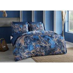 Постельное белье Tac сатин Digital Marisol lacivert синее