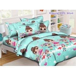 Детское постельное белье Tag Куклы LOL blue