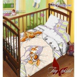 Детское постельное бельё в кроватку для новорожденных TAG поплин Пес в пижаме