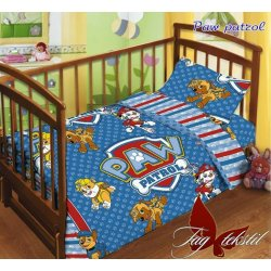 Детское постельное бельё в кроватку для новорожденных TAG поплин Щенячий патруль