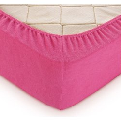 Простынь на резинке махровая TAG 160x200 Pink Flambe