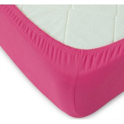 Простынь на резинке трикотажная 160х200 TAG 2133 Pink Flambe