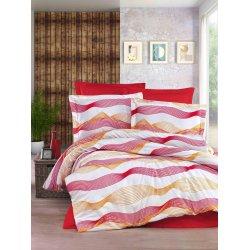 Постельное белье Cotton Twill ранфорс Дидим оранжево красные волны