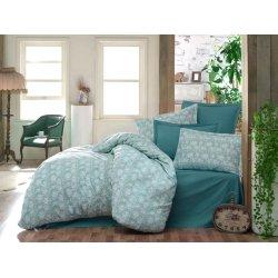 Постельное белье Cotton Twill ранфорс Мармарис цветы на зелёном