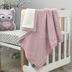 Плед детский Msonya WellSoft Рогожка розовый