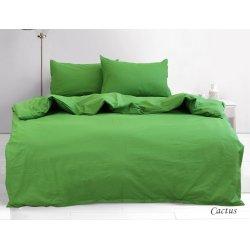 Постельное белье однотонное TAG ранфорс Cactus зелёное