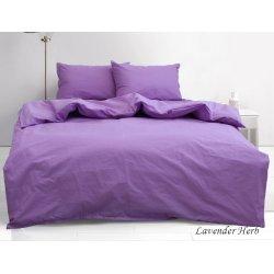 Постельное белье однотонное TAG ранфорс Lavender Herb сиреневое
