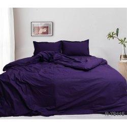 Постельное белье однотонное TAG ранфорс R-T9115 фиолетовое