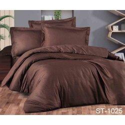 Постельное бельё сатин-страйп TAG ST-1025 коричневое