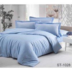 Постельное бельё сатин-страйп TAG ST-1028 небесно-голубое