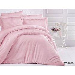Постельное бельё сатин-страйп TAG ST-1030 розовое
