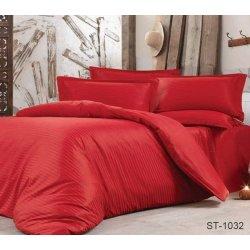 Постельное бельё сатин-страйп TAG ST-1032 красное