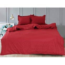 Однотонное постельное белье TAG сатин Bordo
