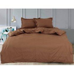 Однотонное постельное белье TAG сатин Chocolate