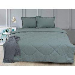 Набор постельного белья с летним одеялом TAG Green Grey