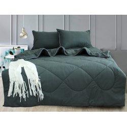 Набор постельного белья с летним одеялом TAG Elegant Dark grey