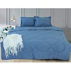 Набор постельного белья с летним одеялом TAG Blue Grey