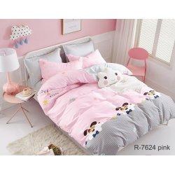 Постельное белье TAG ранфорс R7624 pink
