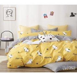 Постельное белье TAG ранфорс R7626 Yellow