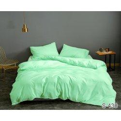 Однотонное постельное бельё Tag сатин S430 мятное