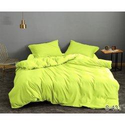 Однотонное постельное бельё Tag сатин S431 салатовый