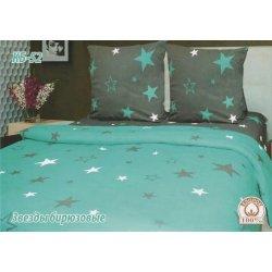 Постельное белье Тиротекс бязь Звезды бирюзовые