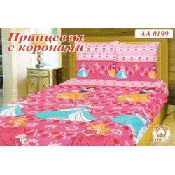Детское постельное белье Тиротекс Дисней Принцессы с коронами