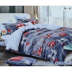Подростковое постельное белье Тиротекс Лондон синий