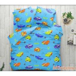 Детское постельное белье Тиротекс Маквины на голубом
