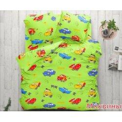 Детское постельное бельё Тиротекс Маквины на зелёном