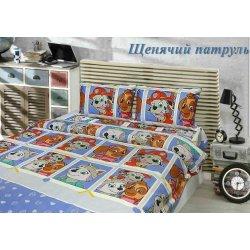 Детское постельное белье Тиротекс Щенячий патруль голубой бязь
