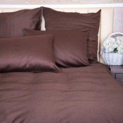 Постельное белье евро Novita Dark brown