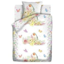 Детское постельное белье Novita поплин 4626 Птички