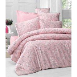 Комплект постельного белья евро Verano розовый