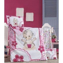 Детское постельное бельё в кроватку для новорожденных Victoria Baby ранфорс