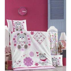 Детское постельное бельё в кроватку для новорожденных Victoria Baby Love ранфорс