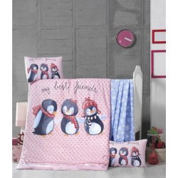 Детское постельное бельё в кроватку для новорожденных Victoria Best Friends ранфорс