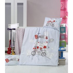 Детское постельное бельё в кроватку для новорожденных Victoria Bunnies ранфорс