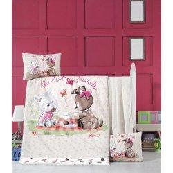 Детское постельное бельё в кроватку для новорожденных Victoria Cookie Time ранфорс