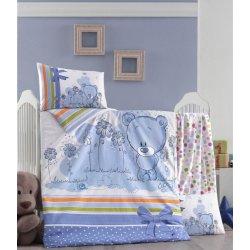 Детское постельное бельё в кроватку для новорожденных Victoria Bear ранфорс